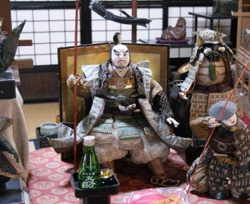 村上町屋の人形さま巡り 益甚 加藤清正