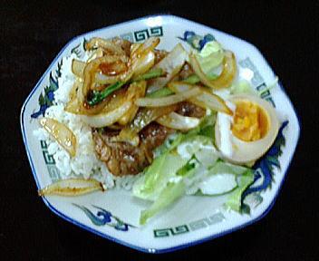 古稀櫻 焼肉丼(担々麺セット)