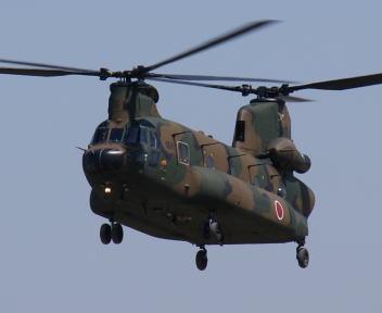 高田駐屯地記念行事 CH-47JA