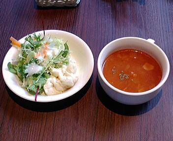 Bistro椿 ランチ スープ&サラダ