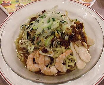 ガスト鶴岡店 野菜たっぷり冷やし麺(醤油)