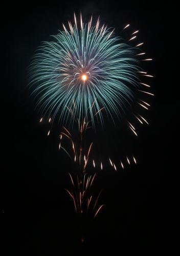 赤川花火記念大会 イケブン「軌道…地球をまわる人工衛星」