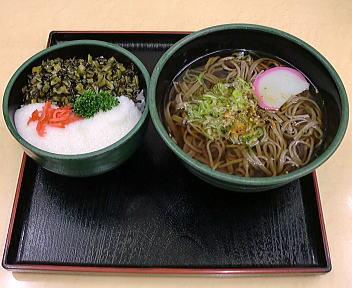 梓川SA そばセット