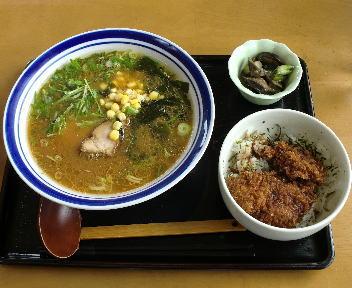 あぐぅ みそラーメンセット(ミニチキンたれカツ丼)