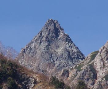 上高地 槍見岩 槍ヶ岳