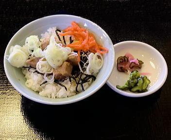 奥次郎 丼ぶりセット(角煮丼)