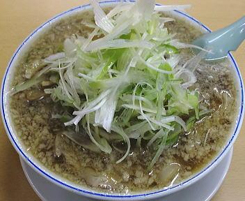 安福亭千手店 叉焼麺(ねぎ盛り後)