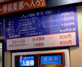 新横浜ラーメン博物館 入場料金