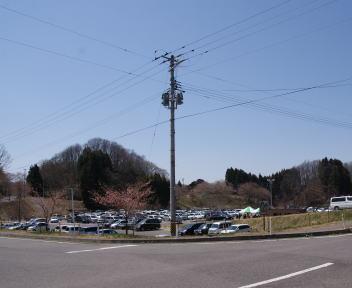 三春滝桜 駐車場