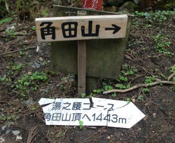 角田山 湯の腰コース 登山口 案内①