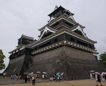 熊本城 天守 斜め