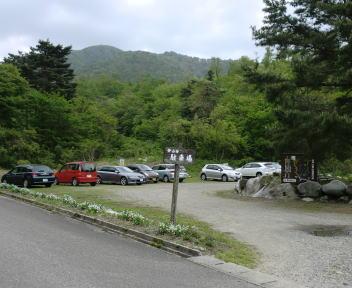 高坪山 登山者駐車場