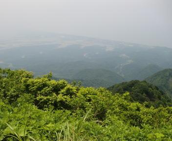 米山 山頂 柿崎方面