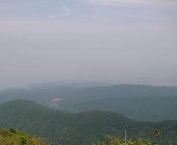 米山 山頂 柏崎方面