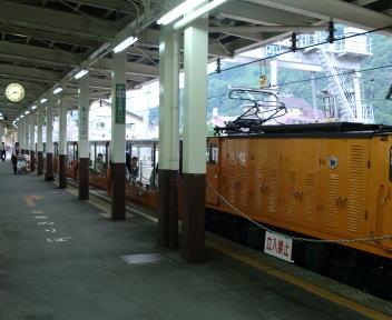 黒部渓谷鉄道 宇奈月駅 ホーム
