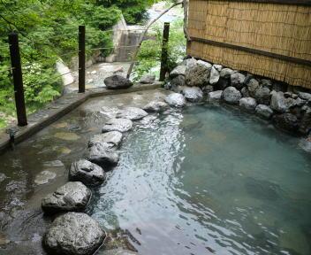 黒部峡谷 名剣温泉 露天風呂 浴室