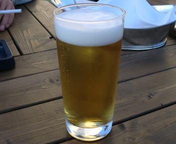 ホテルオークラ新潟 屋上ビアガーデン ビール