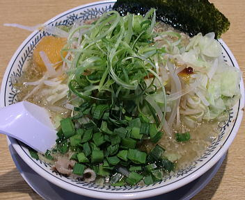 丸源紫竹山店 野菜肉そば