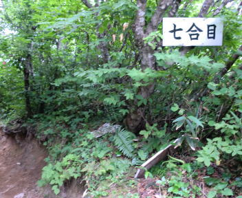 二王子岳 登山コース 7合目