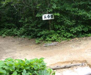 二王子岳 登山コース 5合目
