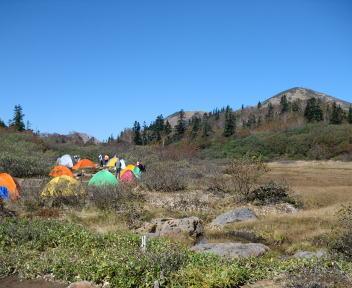 火打山 高谷池ヒュッテ キャンプ場