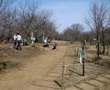 角田山 此の入沢コース 山頂広場