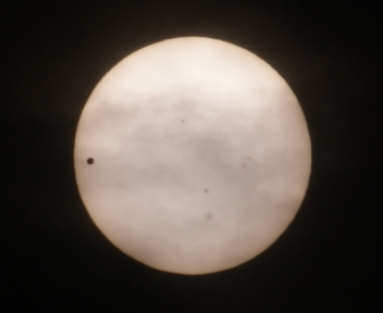 金星の太陽面通過 20120606080000
