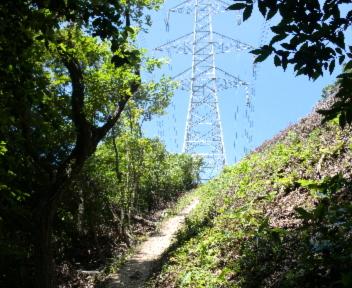 宝珠山 赤松山コース 鉄塔前