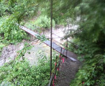 湯の平温泉 北股川の吊り橋