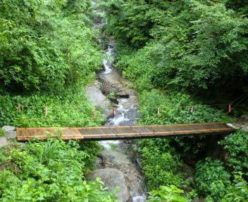 湯の平温泉 掛留沢先の橋
