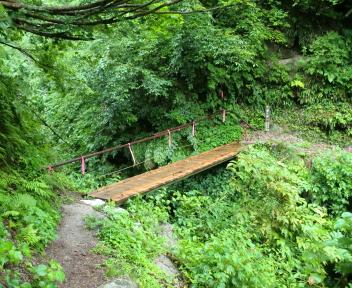 湯の平温泉 曲り沢の橋