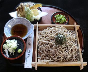 岳藪 野菜天ざるそば(大盛)