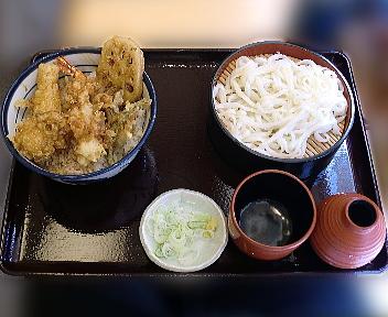 てんや 武蔵小杉店 オールスター天丼セット(小うどん)