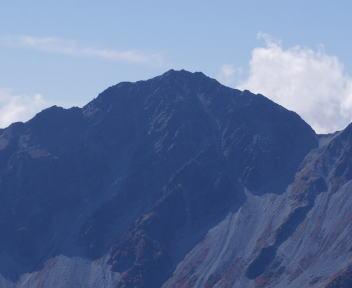 常念岳 山頂 奥穂高岳