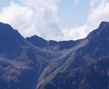 常念岳 山頂 大キレット