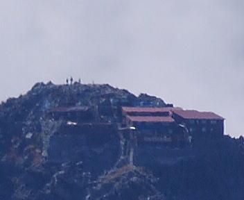 常念岳 山頂 北穂高小屋
