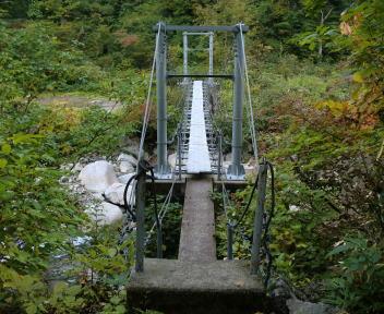 以東岳 大鳥登山口~大鳥池 七ツ滝沢橋