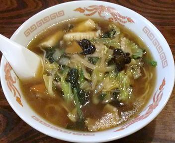 上海亭 什景湯麺(五目ラーメン)