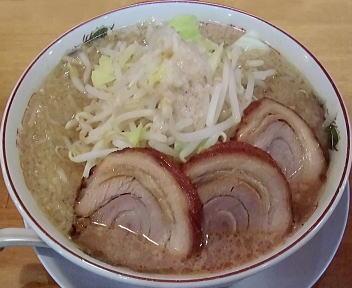 のろし長岡店 らーめん(肉3枚+大盛)