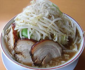のろし新発田店 ラーメン(肉3枚)+野菜増し