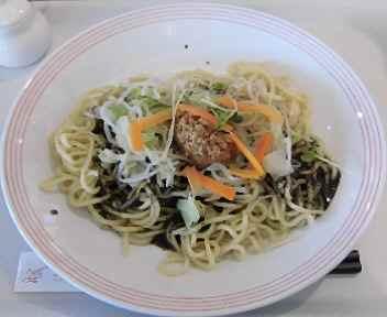 リンガーハットイオンモール大曲店 夏とく冷やし麺(黒酢黒ゴマ)