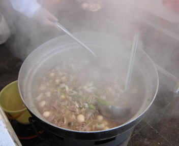 城下町しばた全国雑煮合戦 山形中山芋煮(鍋)