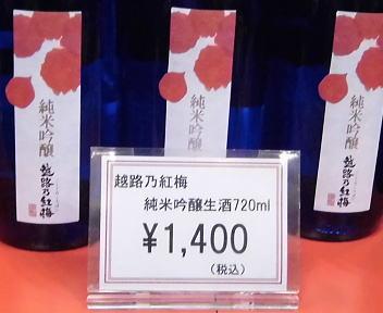 にいがた酒の陣 頚城酒造 越路乃紅梅 純米吟醸生酒