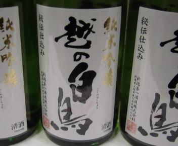 にいがた酒の陣 新潟第一酒造 越の白鳥 純米吟醸秘伝仕込み