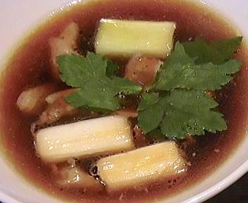 赤シャモジ 深雪もち豚と「ゆきちから」のつけ麺(大盛) アップ②