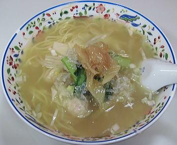 新潟伊勢丹 横浜・中華街 フカヒレ入りエビワンタン麺