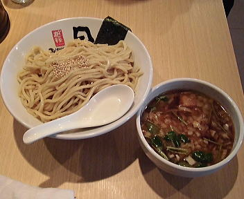 日の出製麺 濃厚煮干しつけめん(大盛)
