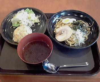 だいすけ 特製つけ麺(太麺)・ミニチャーハン・サラダのセット