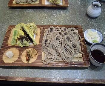 小嶋屋 野菜天ざる(大盛)
