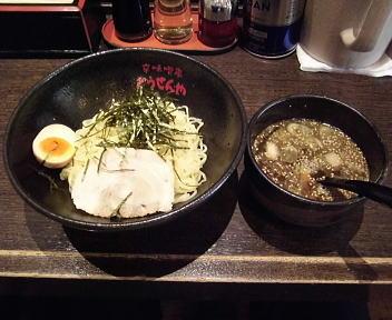 とうせんや つけ麺(冷盛・魚介豚骨・大盛)